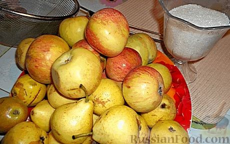 Фото приготовления рецепта: Яблочно-грушевое повидло - шаг №1
