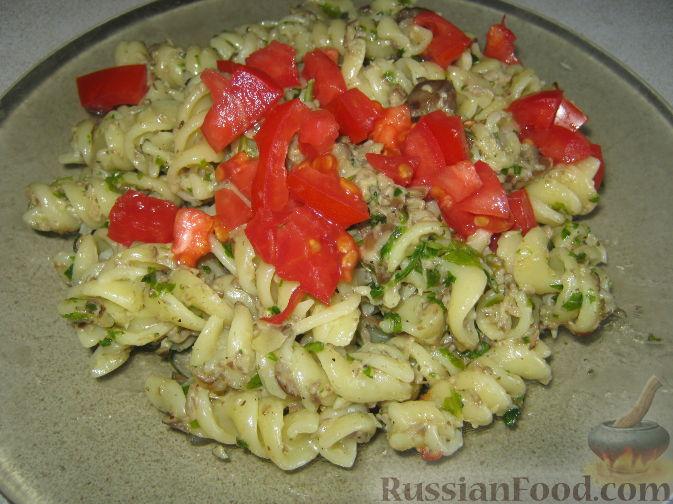 Рецепт Паста с овощами со сливочным соусом