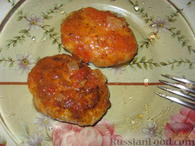 Рецепт Котлеты рыбные в томатном соусе