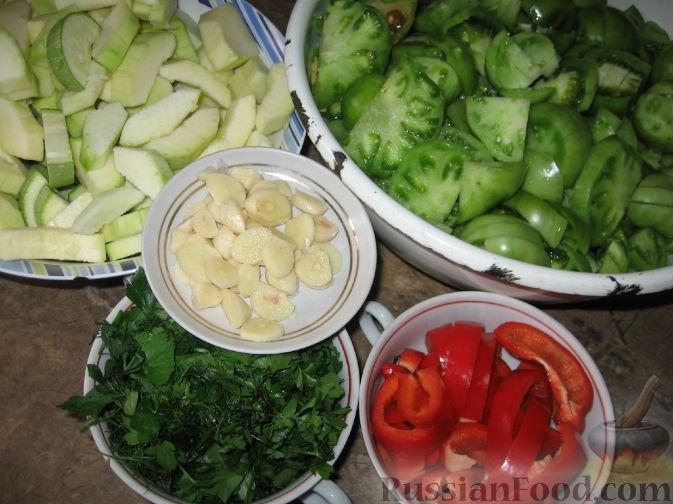салат из зеленых кабачков рецепт