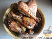 Фото к рецепту: Жареные куриные ножки