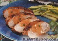 Фото к рецепту: Жареное индюшиное филе под ароматным соусом