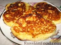 Фото к рецепту: Сырные оладушки