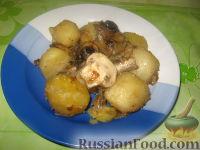 Фото к рецепту: Картофель с шампиньонами