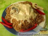 Фото к рецепту: Гречневая каша с куриным фрикасе