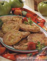Фото к рецепту: Зеленые помидоры, жаренные в кляре