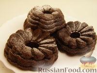 Фото к рецепту: Шоколадные кексы с кефиром и манкой