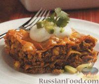 Фото к рецепту: Лазанья мясная с добавлением фасоли