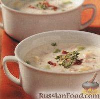 Фото к рецепту: Сливочный суп с мидиями и овощами