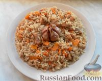 Фото к рецепту: Узбекский плов с курицей