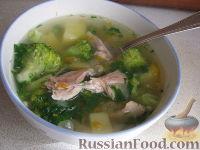 Фото к рецепту: Суп куриный с брокколи