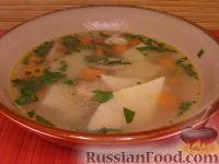 Фото к рецепту: Постный суп с грибами и манными клецками