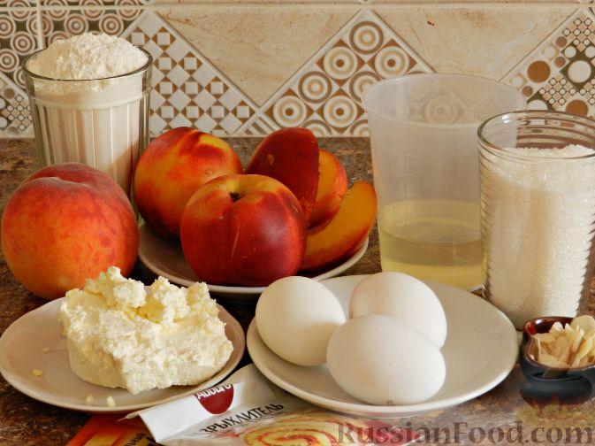 Фото приготовления рецепта: Творожный пирог с нектаринами - шаг №1