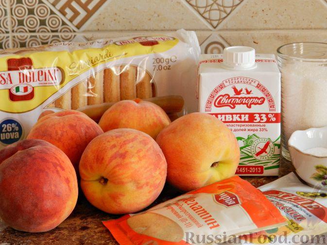 Фото приготовления рецепта: Торт-суфле с персиками - шаг №1