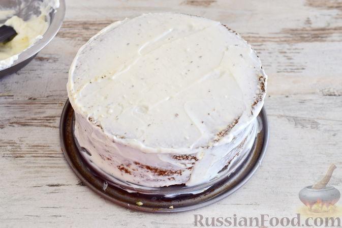 Фото приготовления рецепта: Кокосовый торт для мамы (без муки) - шаг №14