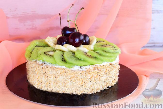 Фото приготовления рецепта: Кокосовый торт для мамы (без муки) - шаг №19