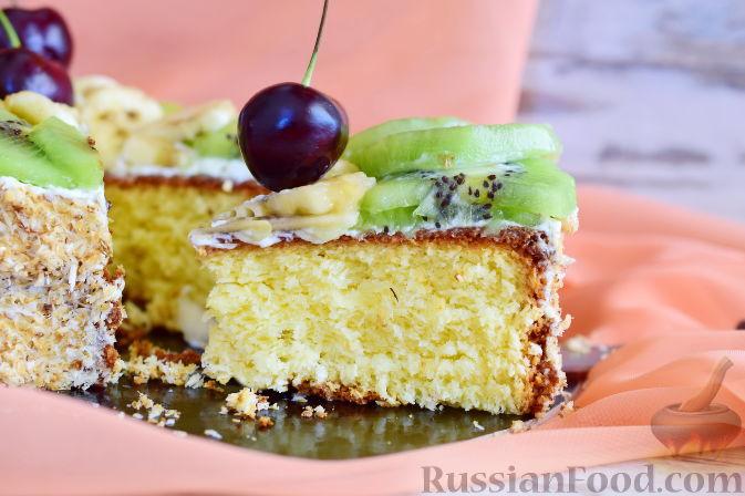Фото приготовления рецепта: Кокосовый торт для мамы (без муки) - шаг №20