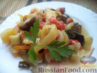 Фото к рецепту: Соте с баклажанами и кабачками