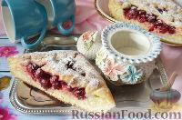 Фото к рецепту: Дрожжевой пирог с вишнями