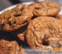 Фото к рецепту: Шоколадное печенье с кокосом