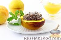 Фото к рецепту: Персики, запеченные с шоколадом и имбирем