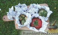 Фото к рецепту: Печёные овощи на мангале