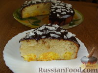 Фото к рецепту: Пирог с творожно-морковными шариками