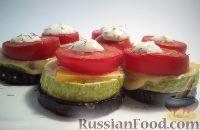 Фото к рецепту: Запеченные баклажаны и кабачки, с помидорами и сыром