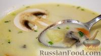 Фото к рецепту: Быстрый сливочно-грибной суп