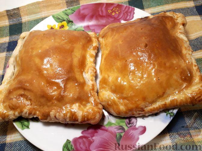 пироги с мясом фото слоеные