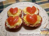 Фото к рецепту: Помидоры, фаршированные кабачками
