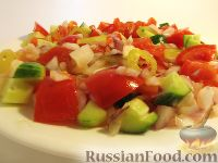 Фото к рецепту: Сербский овощной салат
