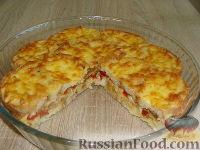 Фото к рецепту: Быстрый хлебный пирог с курицей