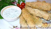 Фото к рецепту: Хрустящая закуска из баклажанов в духовке