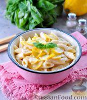 Фото к рецепту: Паста со сливочным сыром и кабачком
