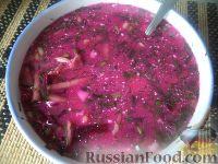 Фото к рецепту: Борщ холодный мясной