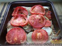 Фото к рецепту: Карп, запеченный с овощами