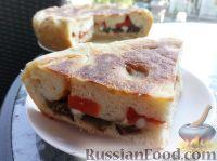 Фото к рецепту: Дрожжевой пирог с баклажанами и яйцом (в мультиварке)