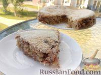 Фото к рецепту: Насыпной яблочный пирог (в мультиварке)