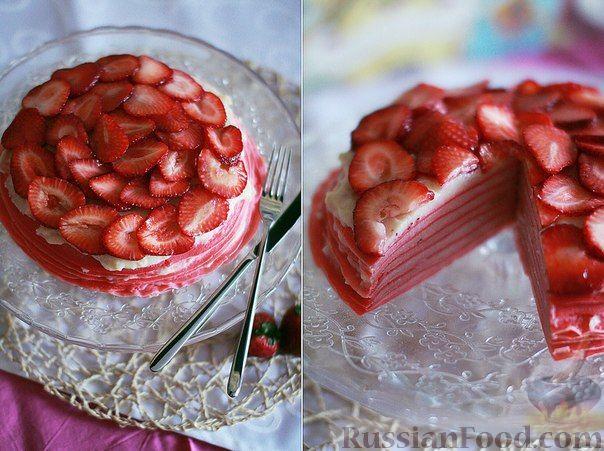Фото приготовления рецепта: Блинный торт с клубникой - шаг №1