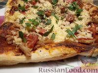 Фото к рецепту: Пицца на слоеном тесте