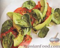 Фото к рецепту: Салат из авокадо с помидорами