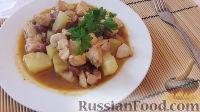 Фото к рецепту: Курица с фасолью и ананасом