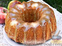 Фото к рецепту: Яблочный пирог со сливочной карамелью
