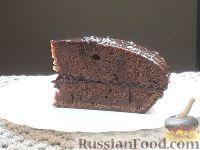 Фото к рецепту: Шоколадный торт  в мультиварке