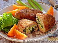 Фото к рецепту: Зразы с яйцом и зеленым луком