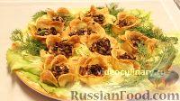 """Фото к рецепту: Закуска """"Цветы"""" из картофеля с грибами"""