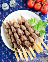 Фото к рецепту: Куриные сердечки в азиатском стиле