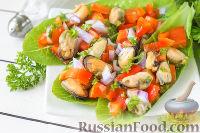 Фото к рецепту: Салат с мидиями и перцем