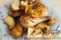 Фото к рецепту: Средиземноморская курица, запечённая с картофелем